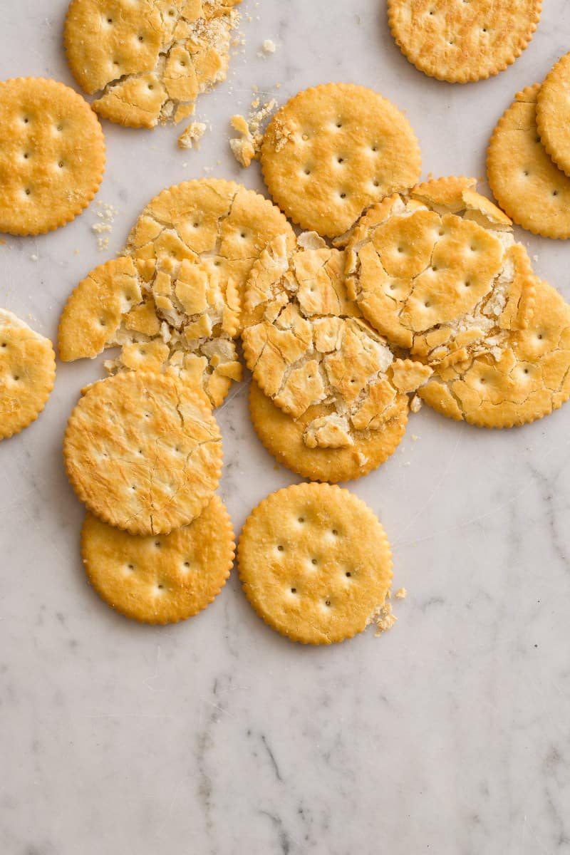 Ritz Cracker Crust for a Cheesecake recipe