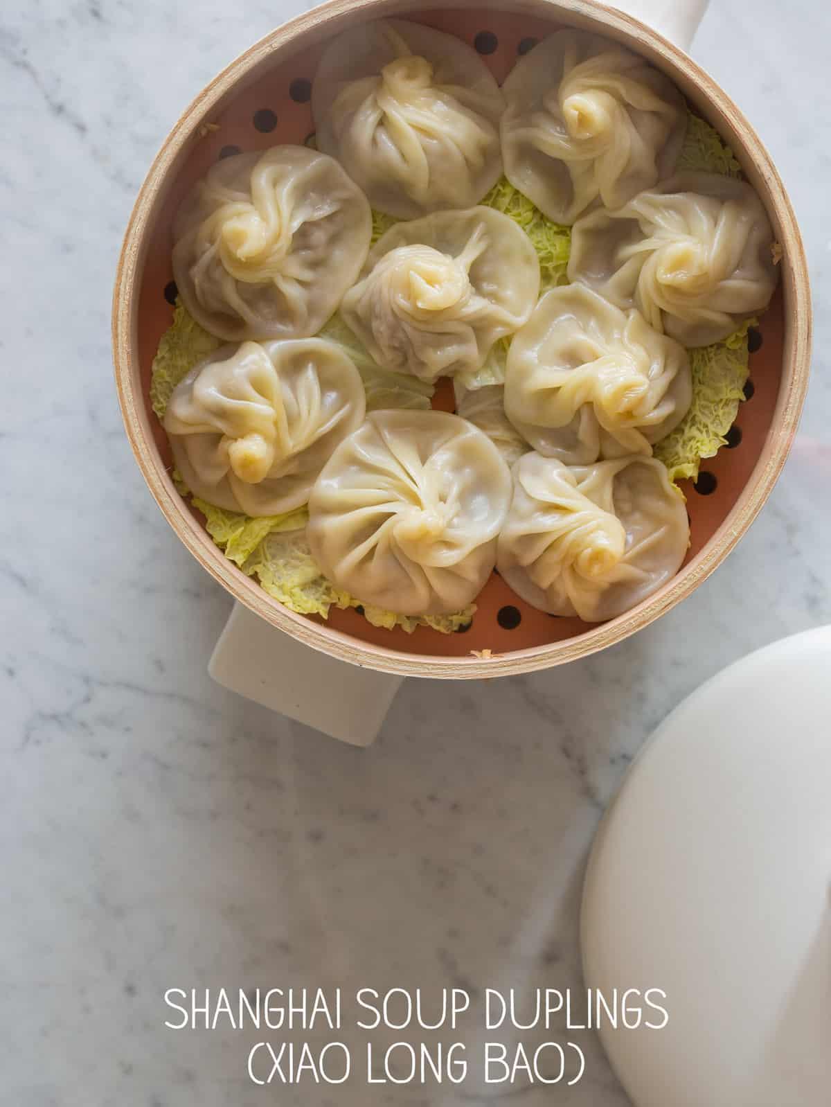 Steamed pork soup dumplings recipe