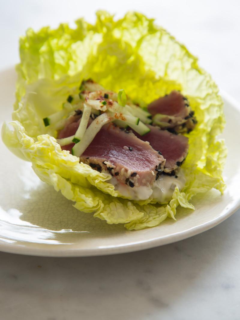 Protein-Style Ahi Tuna Burgers