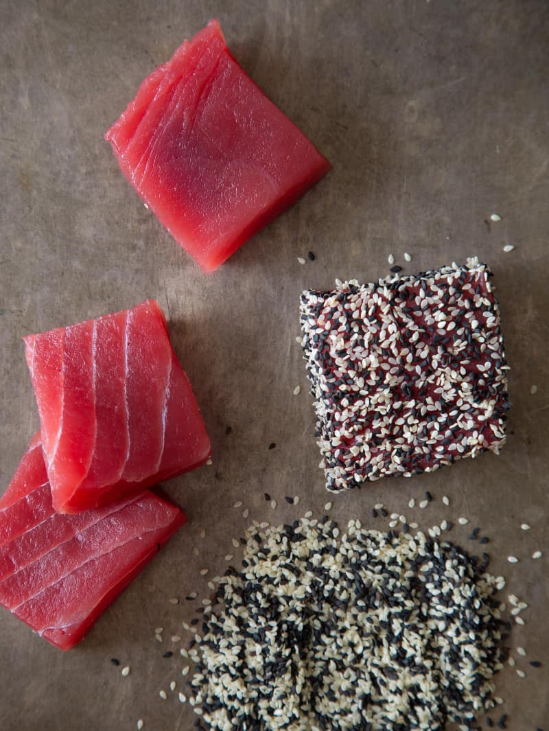 Sesame Crusted Ahi Tuna Steaks