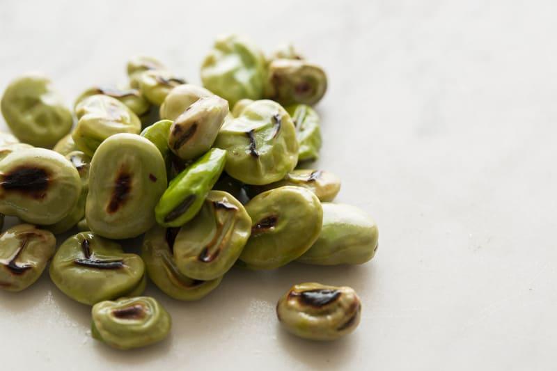 Blistered Fava Beans
