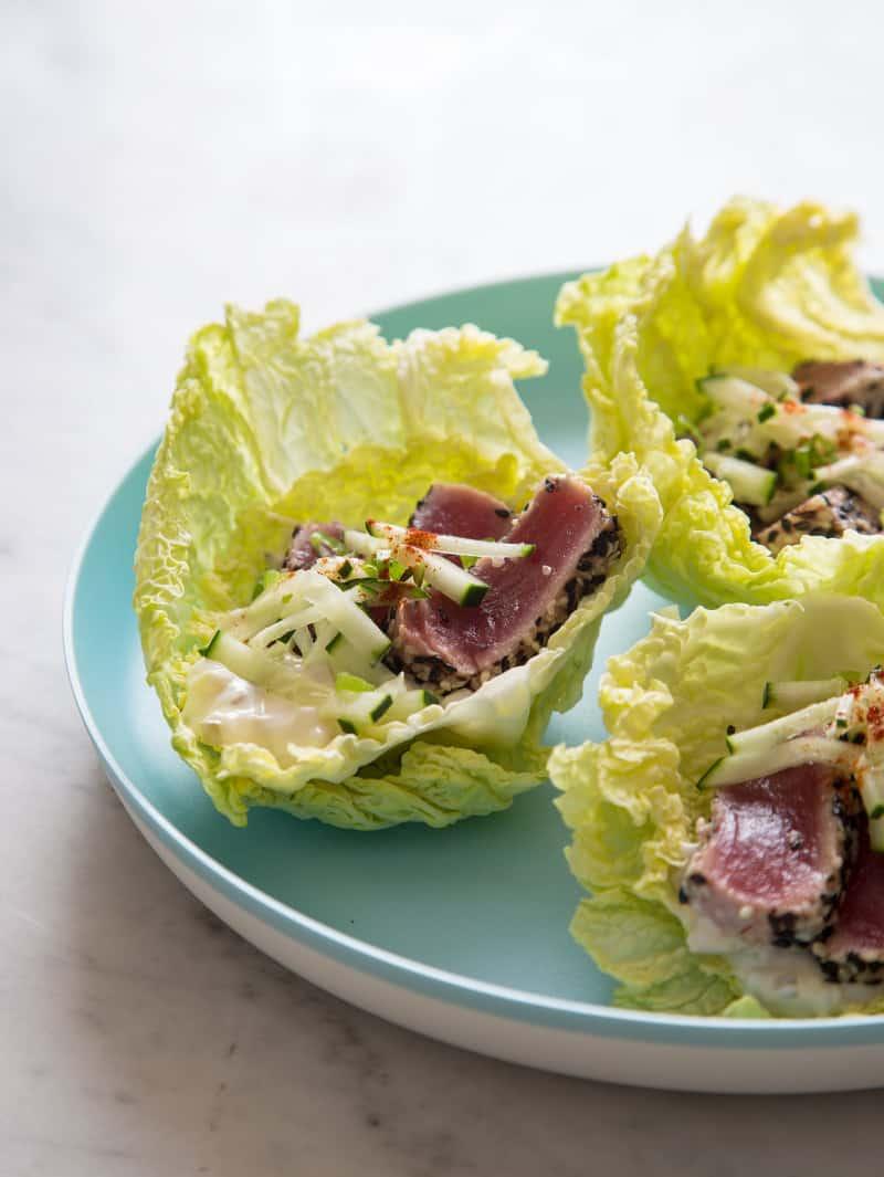 Protein-Style Ahi Tuna Burgers recipe