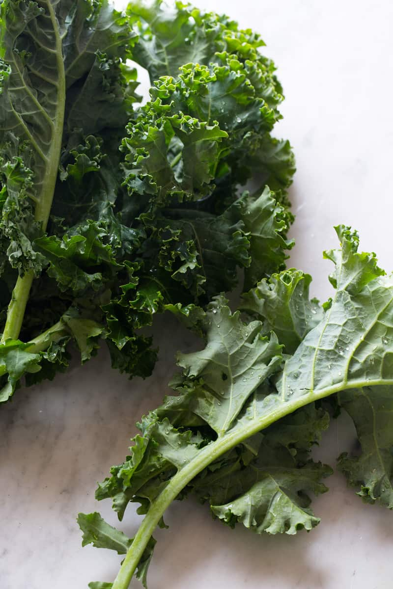 A close up of fresh kale.