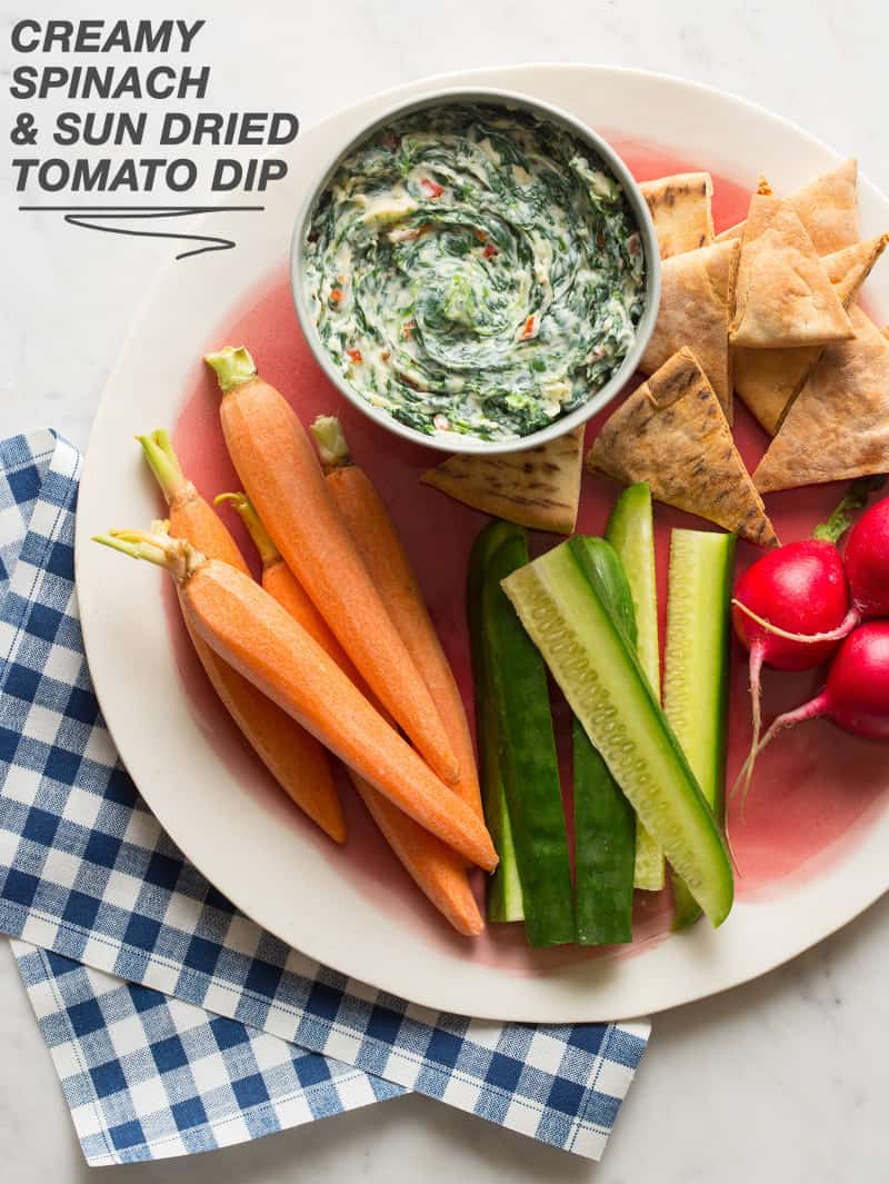 Creamy Spinach and Sun Dried Tomato Dip