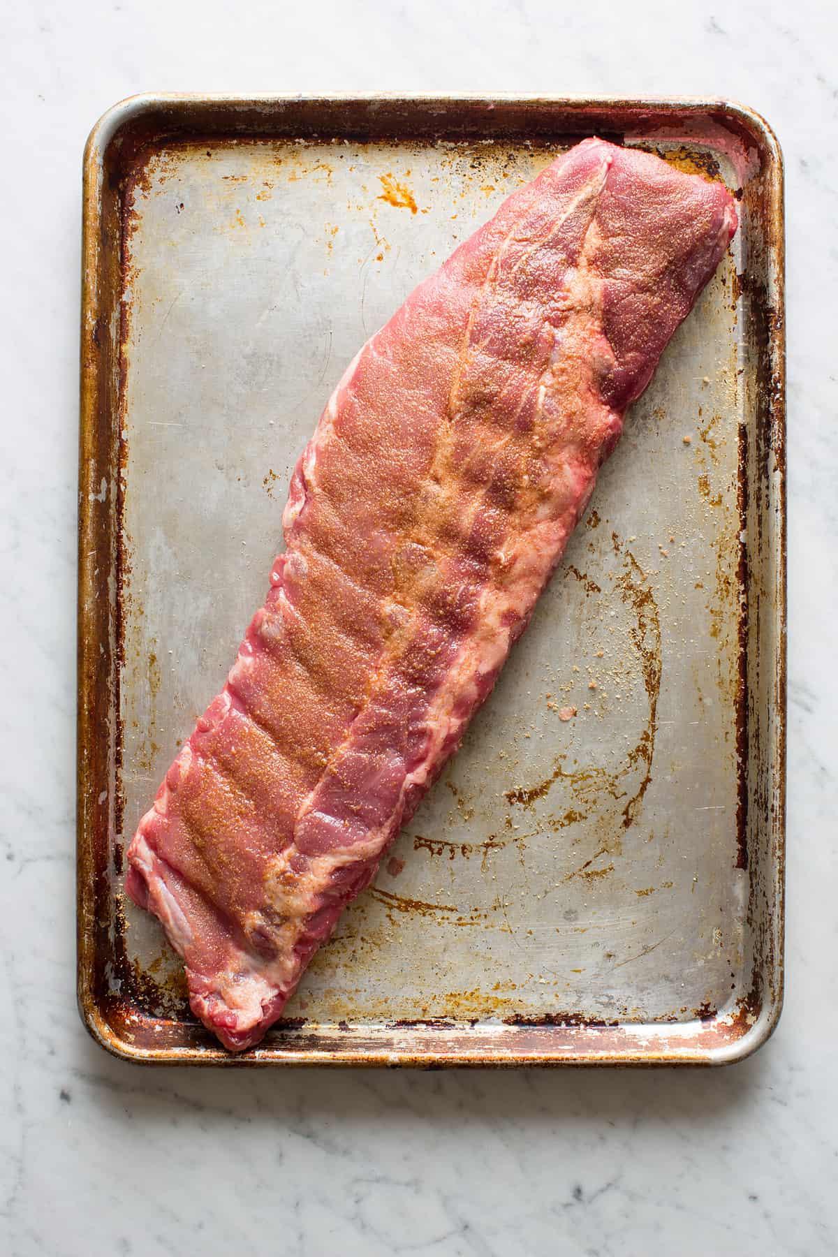 Honey Hoisin Baby Back Ribs Spoon Fork Bacon