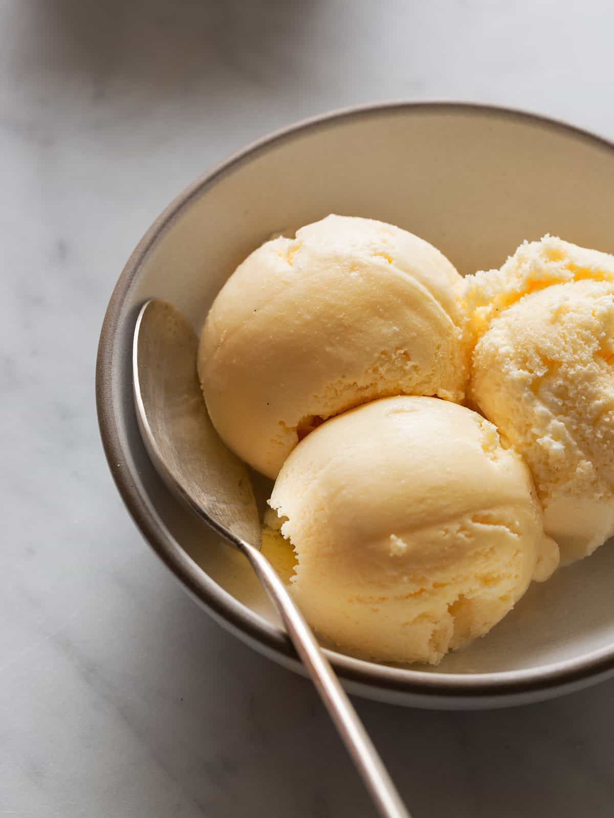 Salted Cantaloupe and Ginger Ice Cream | Spoon Fork Bacon