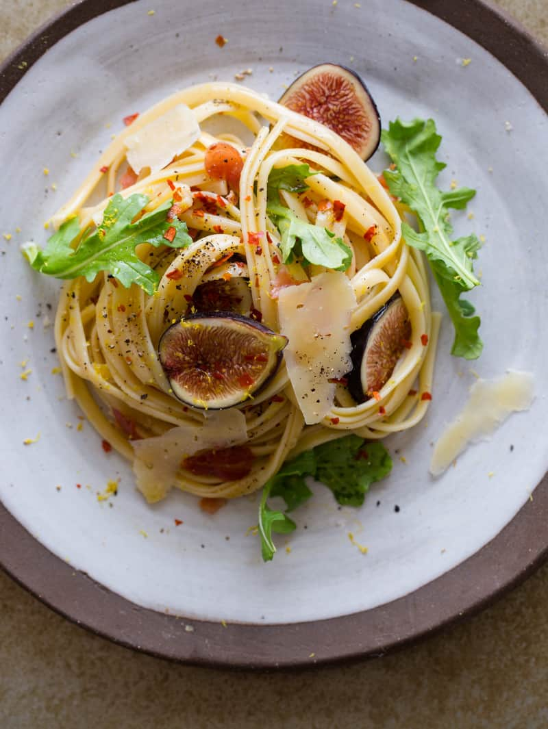 Fettuccine With Figs, Rosemary And Bacon Recipes — Dishmaps