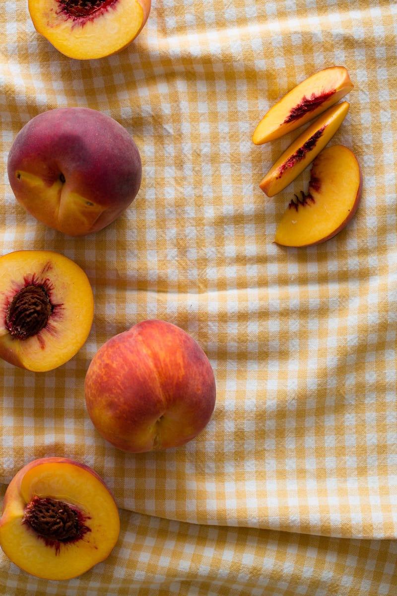 Peaches for Fresh Peach and Yogurt Biscuits