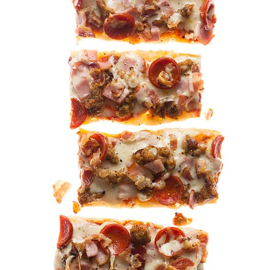 Meat Lovers Pizza Boats | Spoon Fork Bacon
