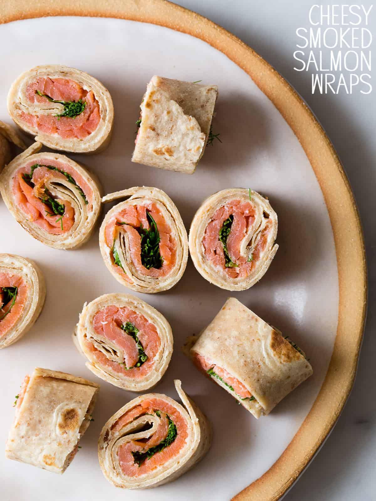 Cheesy Smoked Salmon Wraps | Spoon Fork Bacon