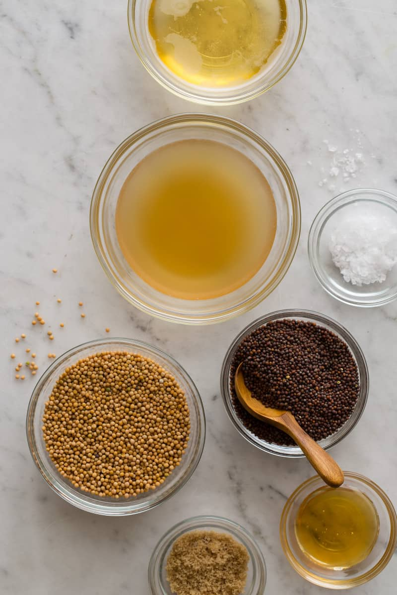 Whole Grain Beer Mustard ingredients