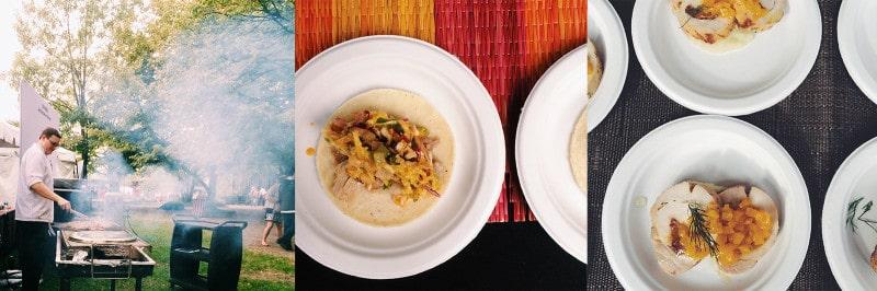 Plates of pork tacos.