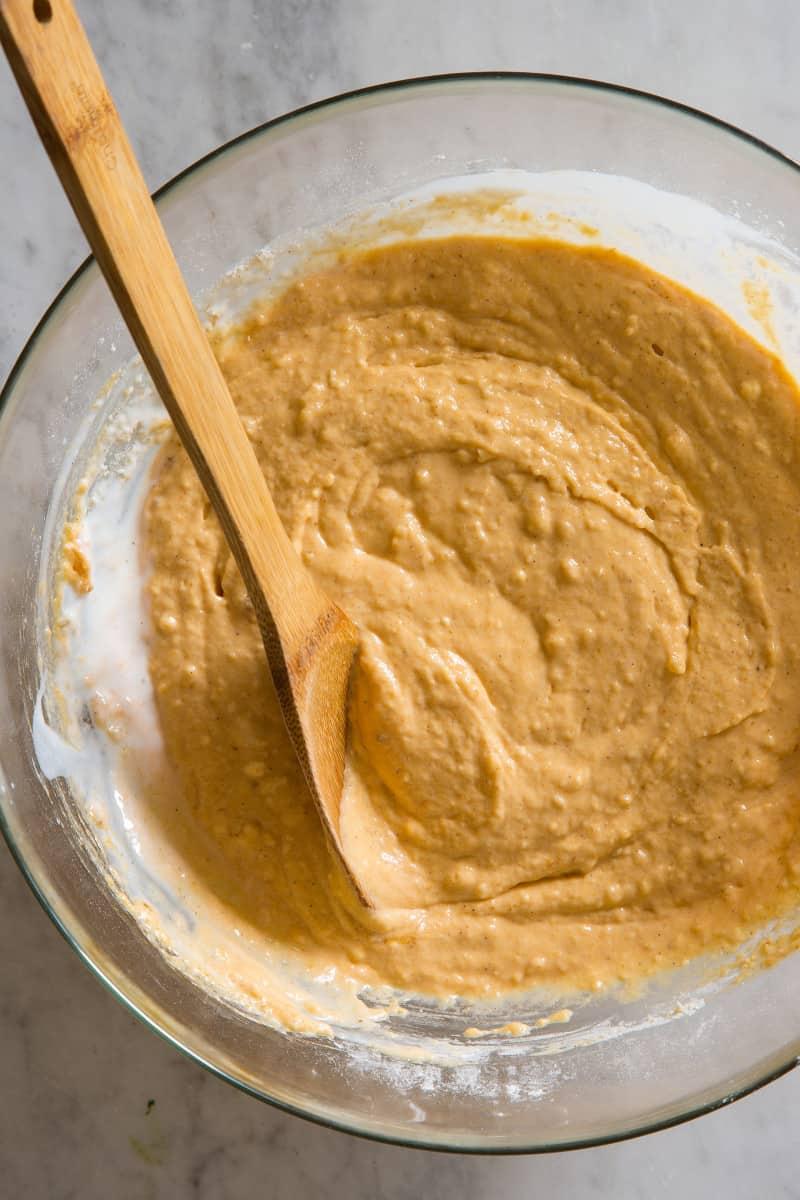 Pumpkin Spiced Waffle batter
