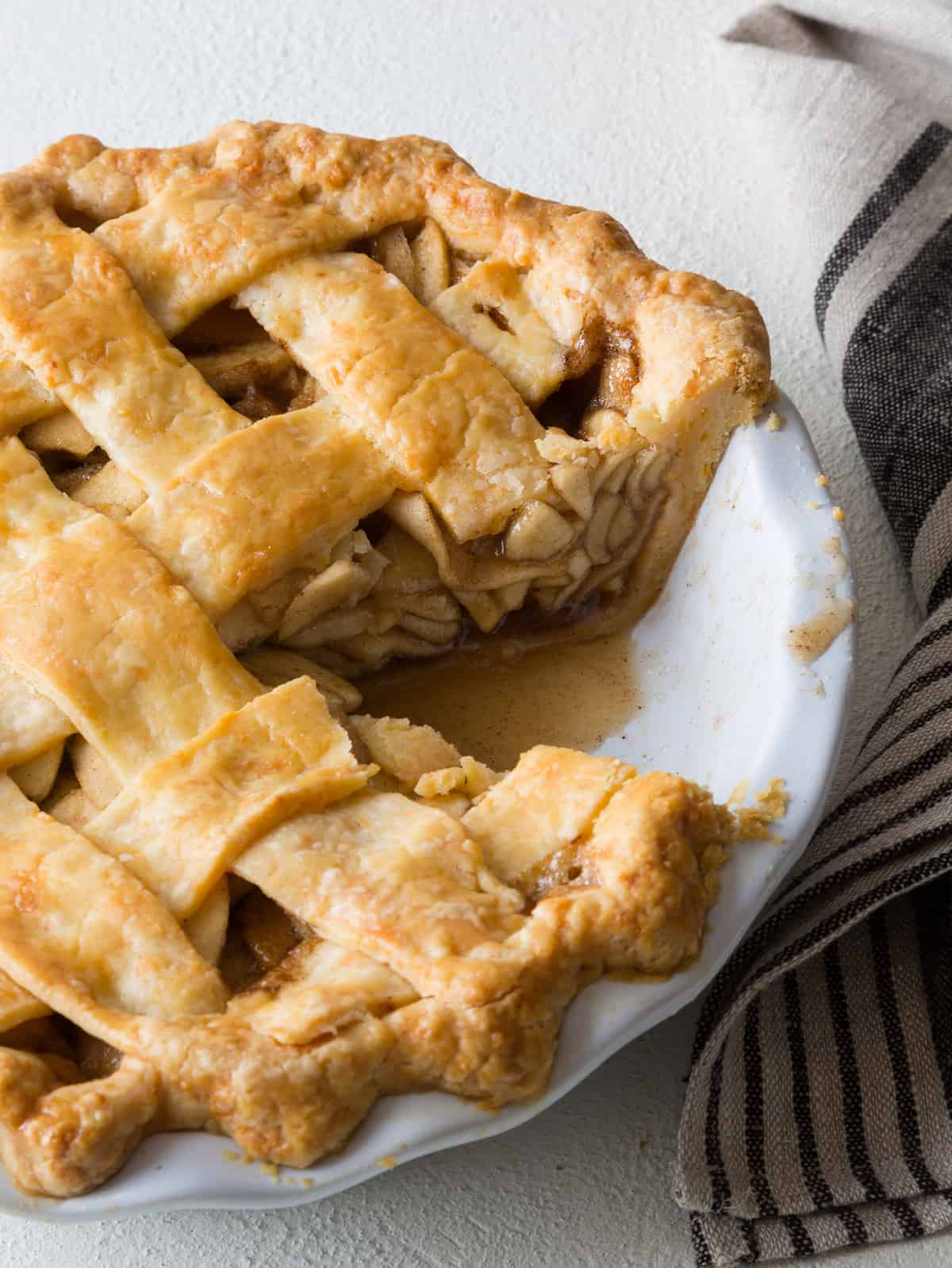 Brown Butter Apple Pie with a Cheddar Crust - Spoon Fork Bacon