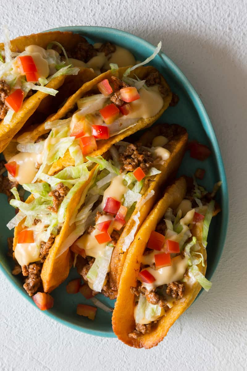 Crunchy Ground Beef and Cheesy Tacos recipe