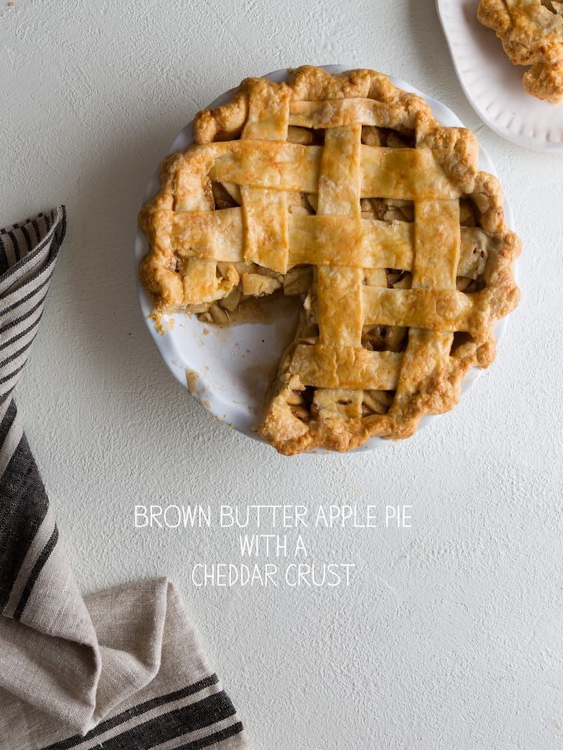 Brown Butter Apple Pie with a Cheddar Crust | spoon fork bacon ...