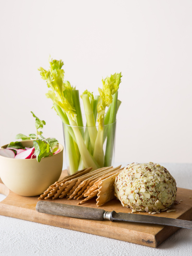Swiss and Green Onion Cheese Ball