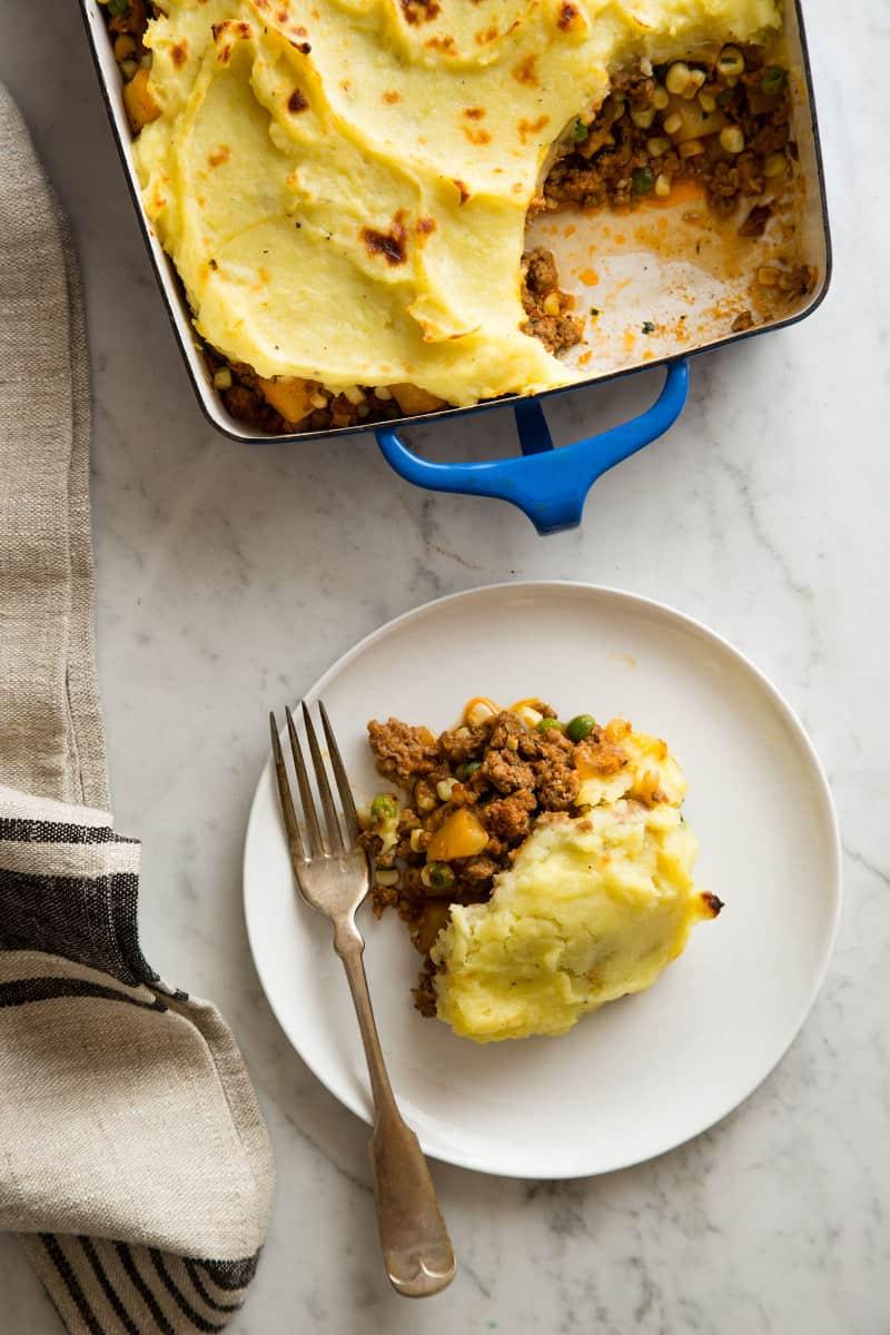 Sweet Potato Shepherd's Pie with lamb