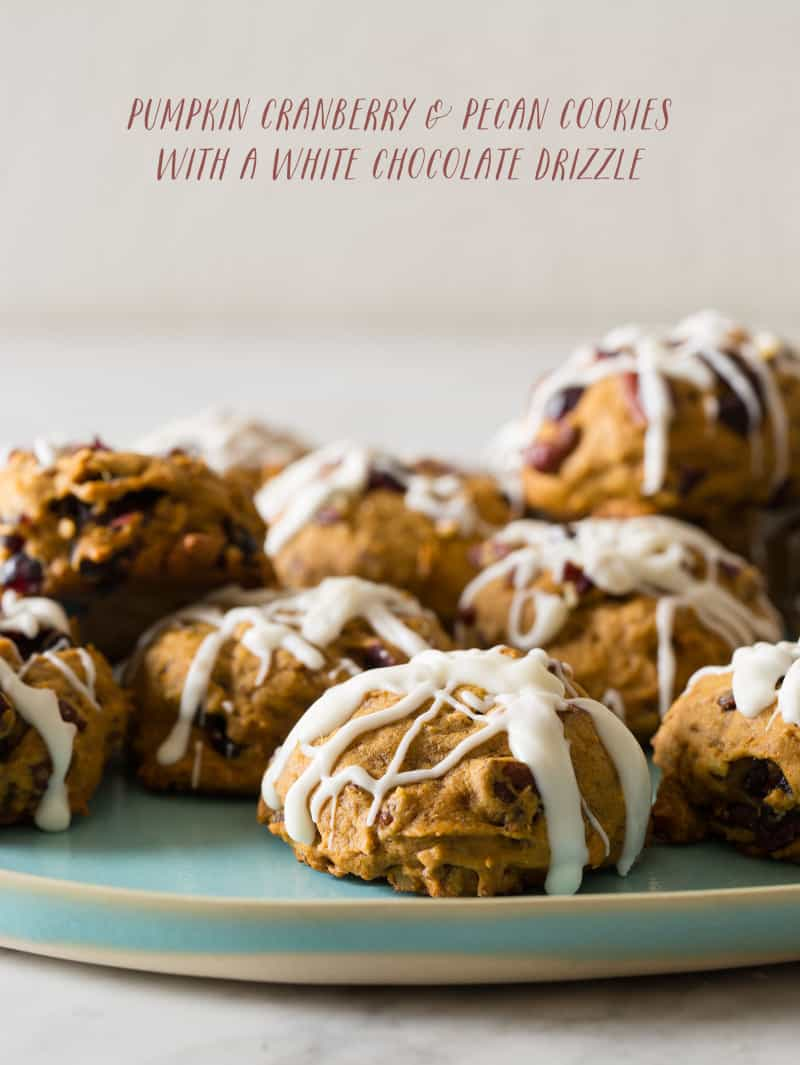 Pumpkin Cranberry and Pecan Cookies | Spoon Fork Bacon