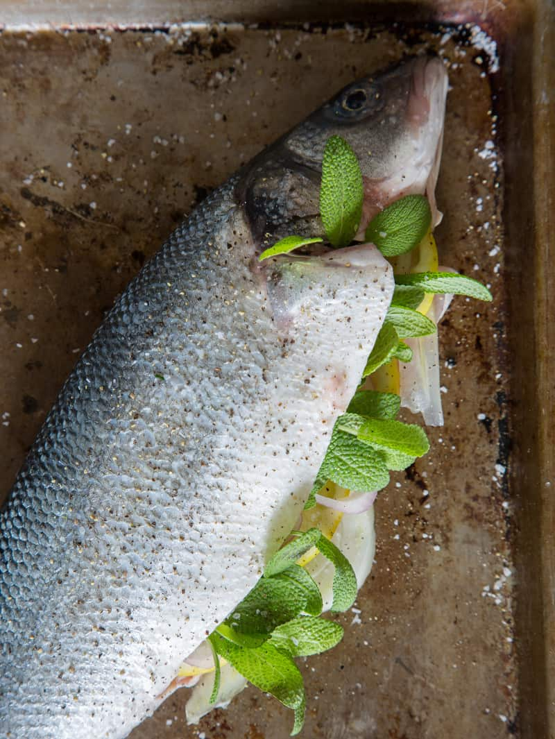 how to cook branzino in the oven