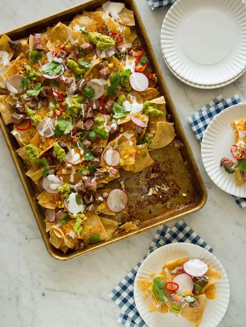 Carne Asada Nachos party recipe