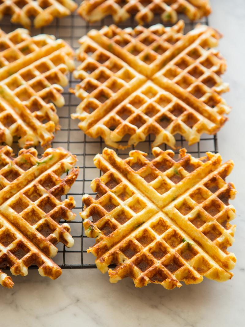 Gruyere and Green Onion Waffles recipe