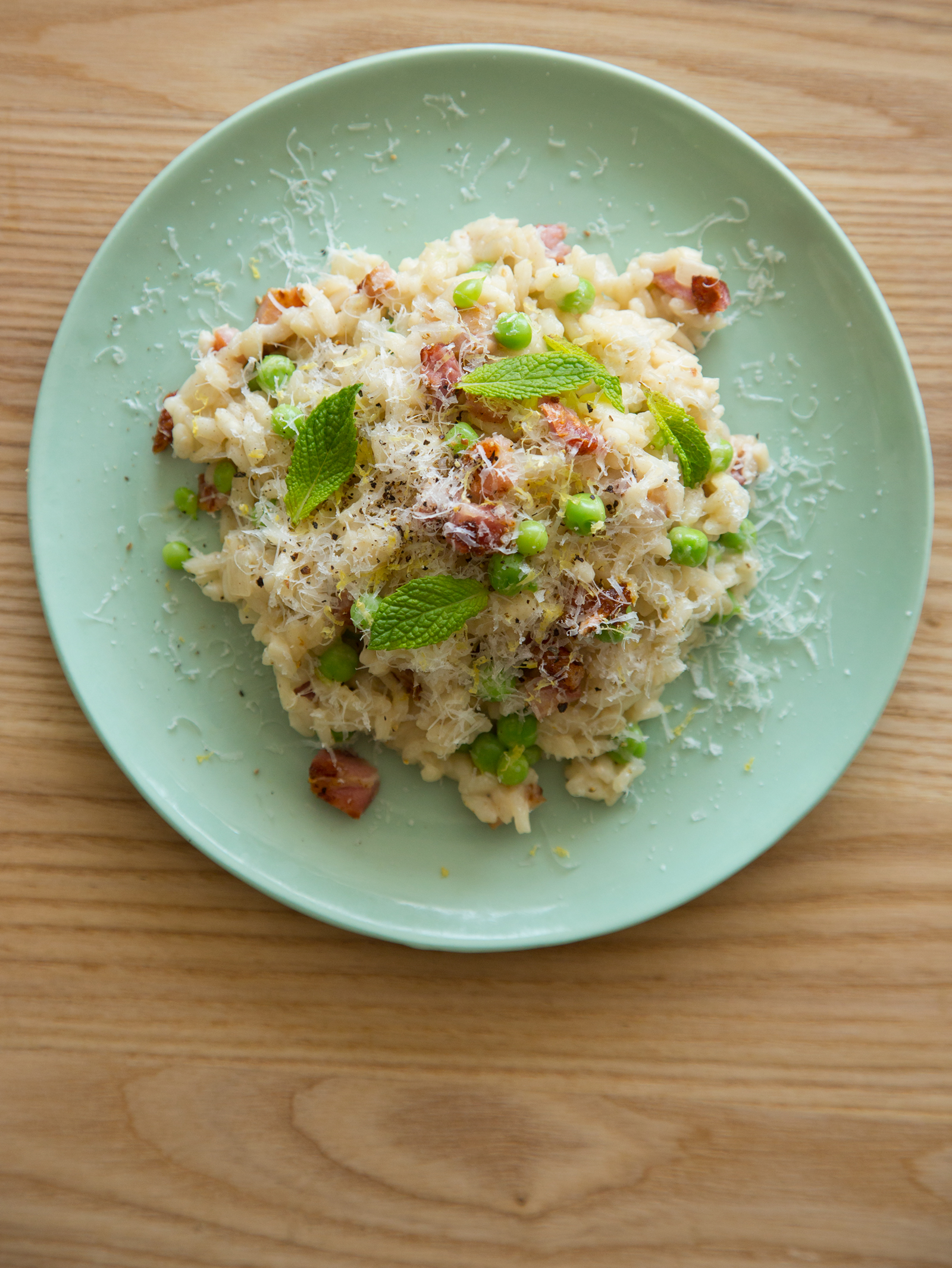 Pea And Bacon Risotto Recipe — Dishmaps
