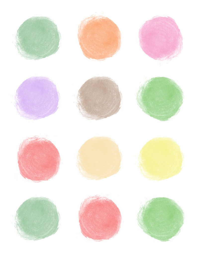 A close up of colored circle logo.