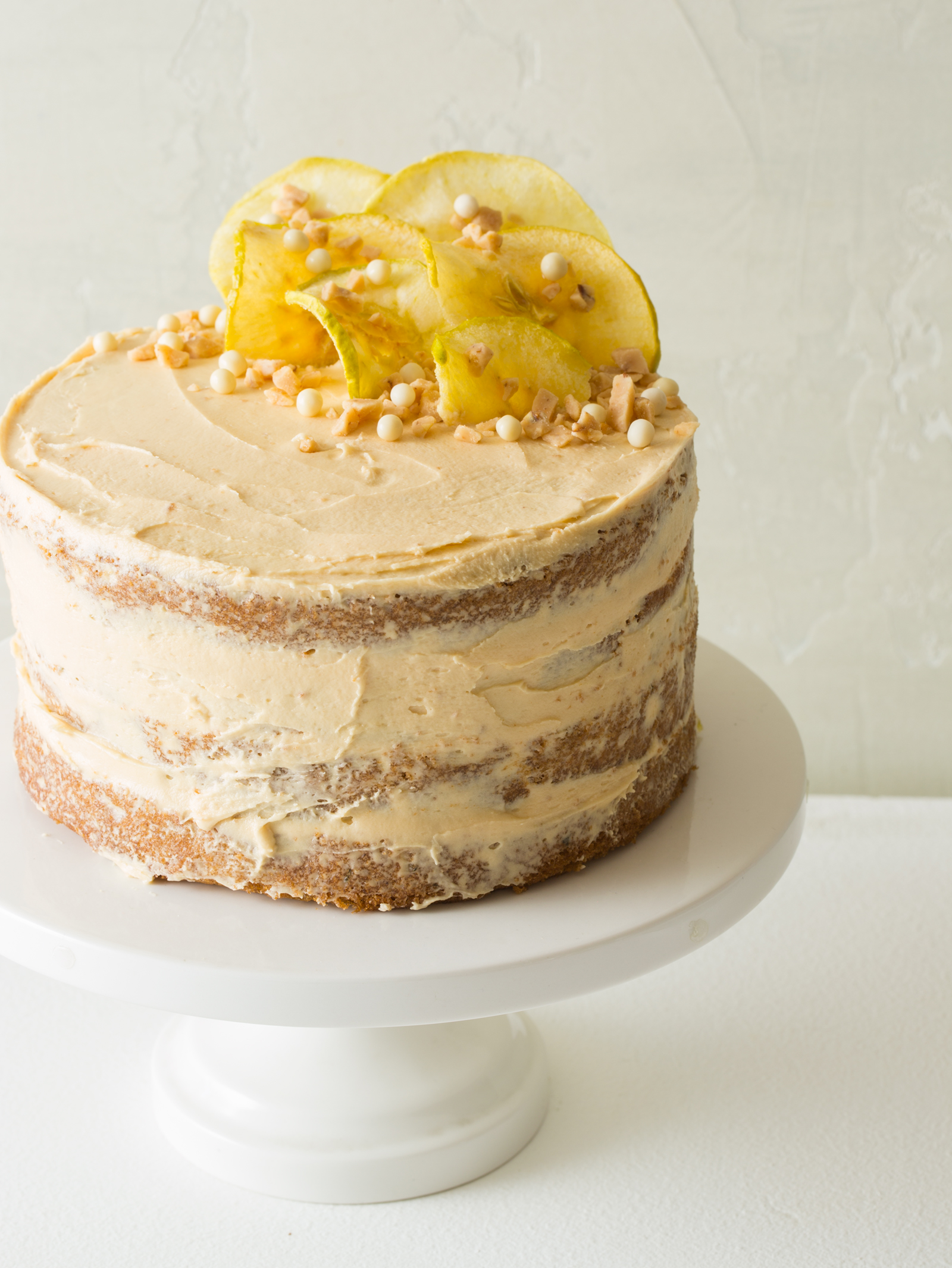 Apple and Thyme Cake with a Salted Caramel Buttercream