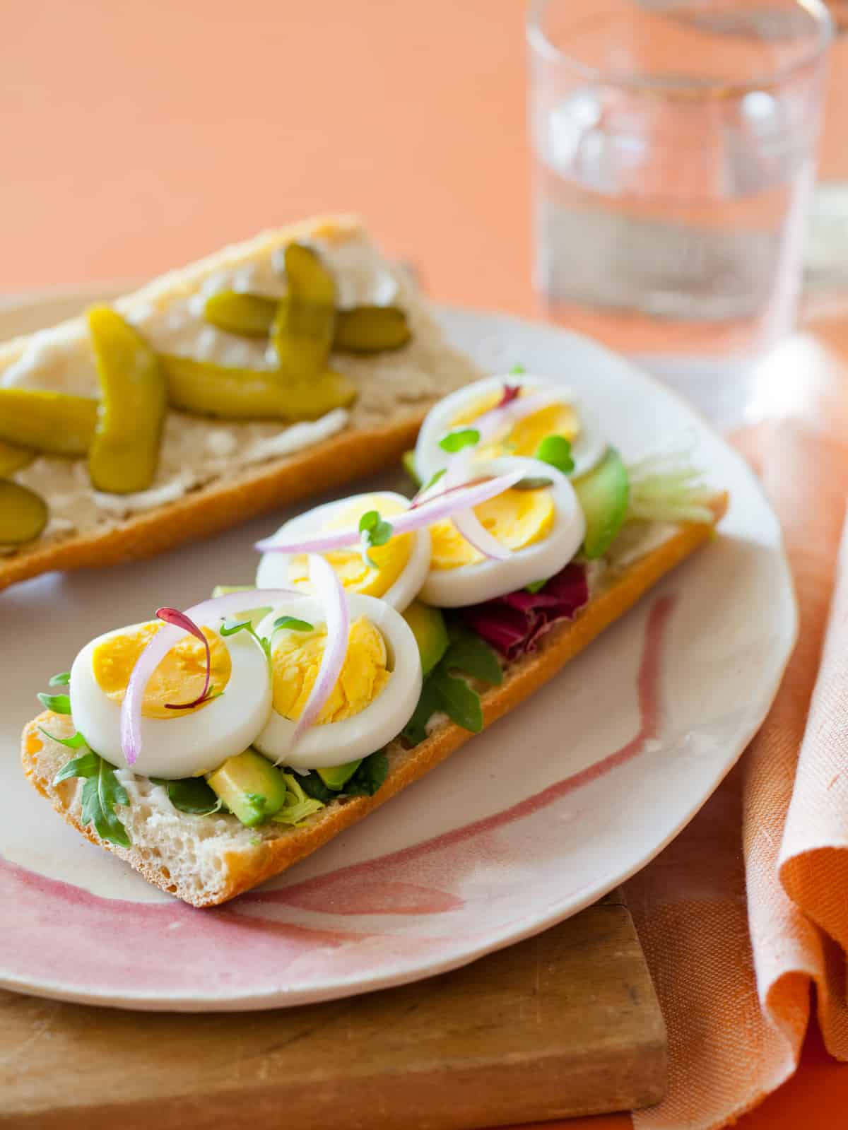 Deconstructed egg salad sandwich spoon fork bacon easter egg salad forumfinder Images