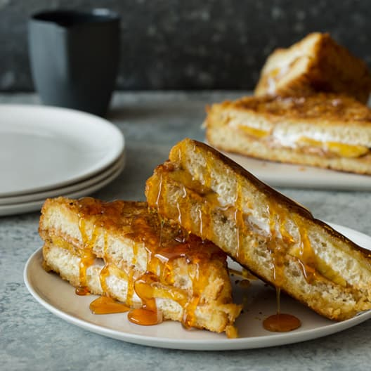 Fluffernutter and Banana Stuffed French Toast