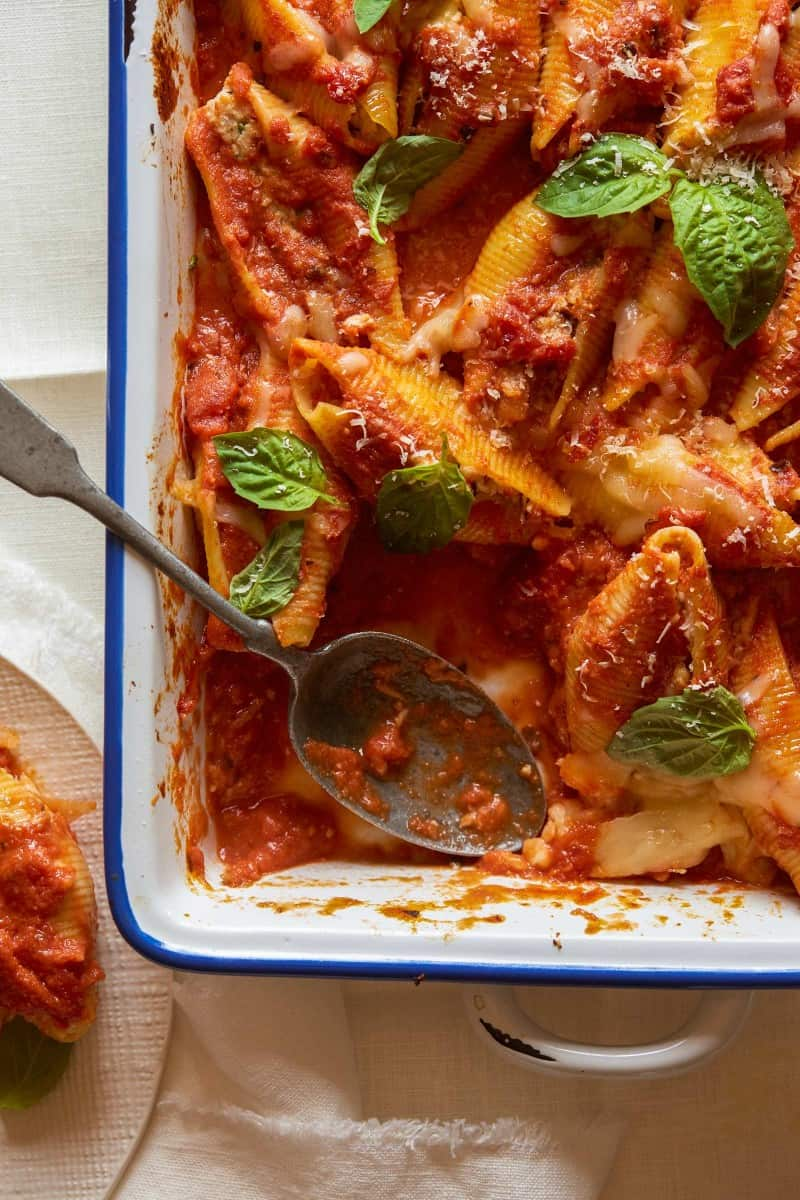 Baked_Turkey_sausuage_marscapone_stuffed_shells_recipe