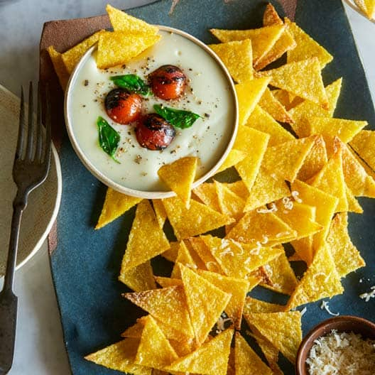 baked_polenta_chips_Mozarella_dip_index