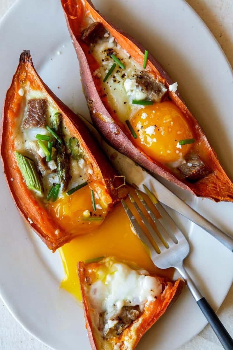 steak_eggs_stuffed_sweet_potato_yolk