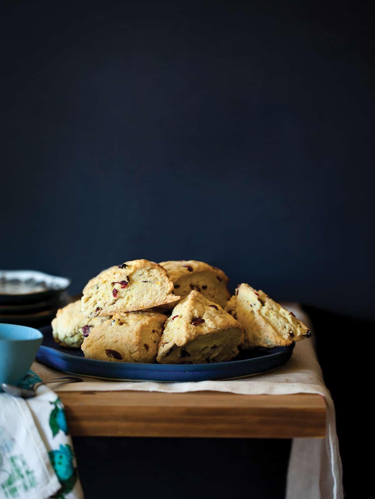 A recipe for Cranberry and Orange Scones.