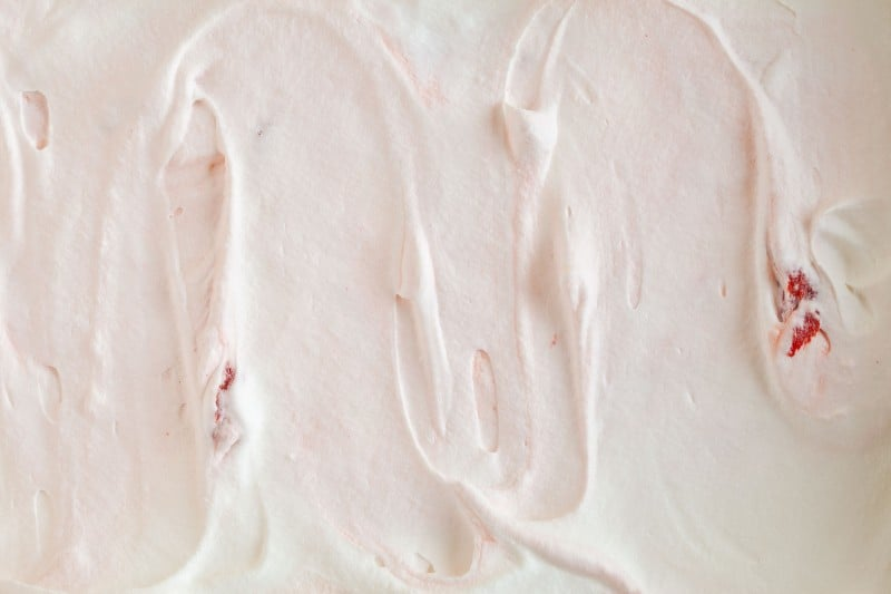 A close up of cherry semifreddo.