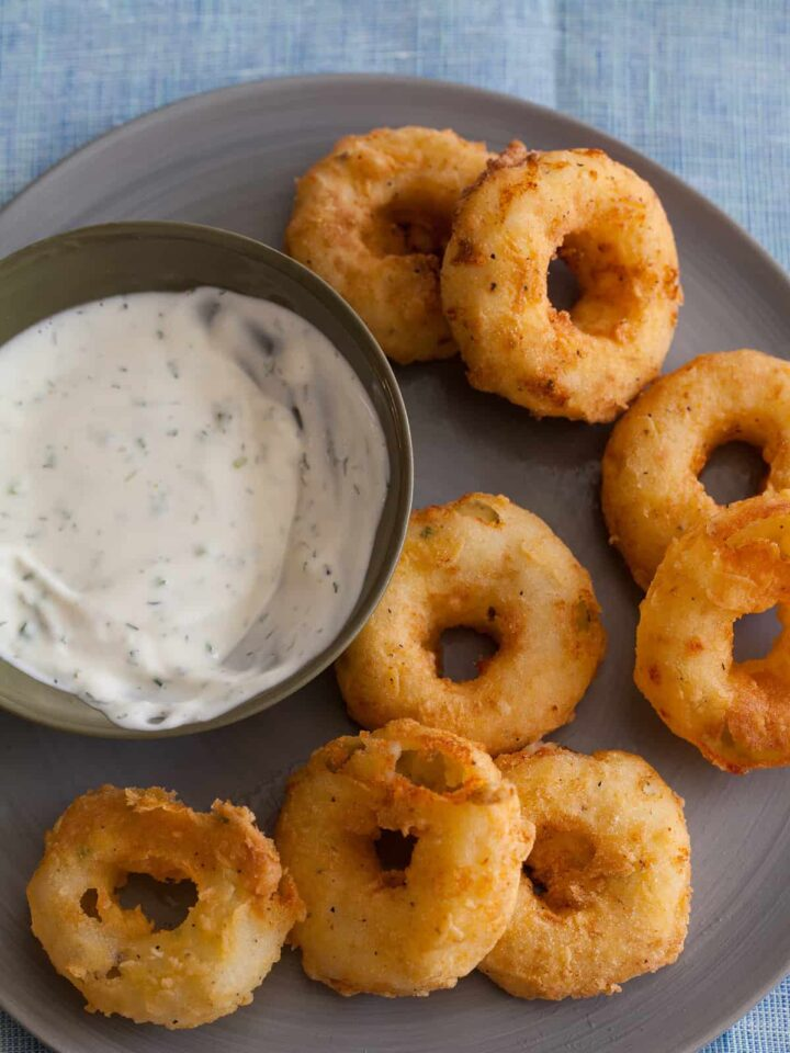 A recipe for Potato Rings with a homemade buttermilk ranch.