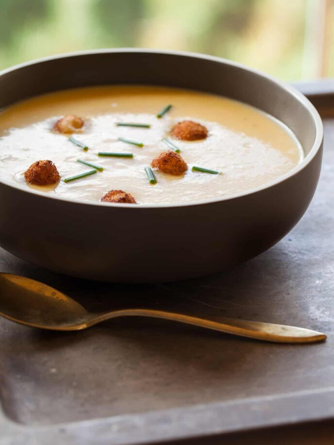 A recipe for Curried Butternut Squash Soup.