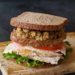 A recipe for a Thanksgiving Turkey Sandwich with a moist maker.