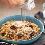 A recipe for a Wild Mushroom Farro Riotto.
