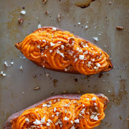 Twice Baked Sweet Potato recipe.