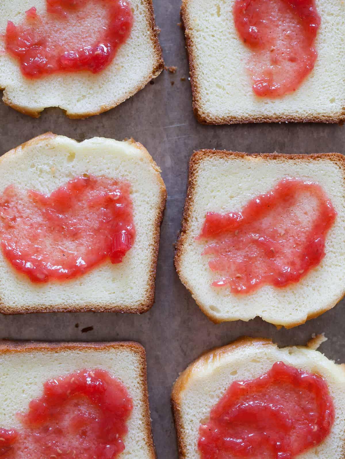 A recipe for Rhubarb Raspberry and Cardamom Jam.