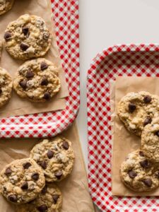 A recipe for Chocolate Chip Rice Krispies Treat Cookies.