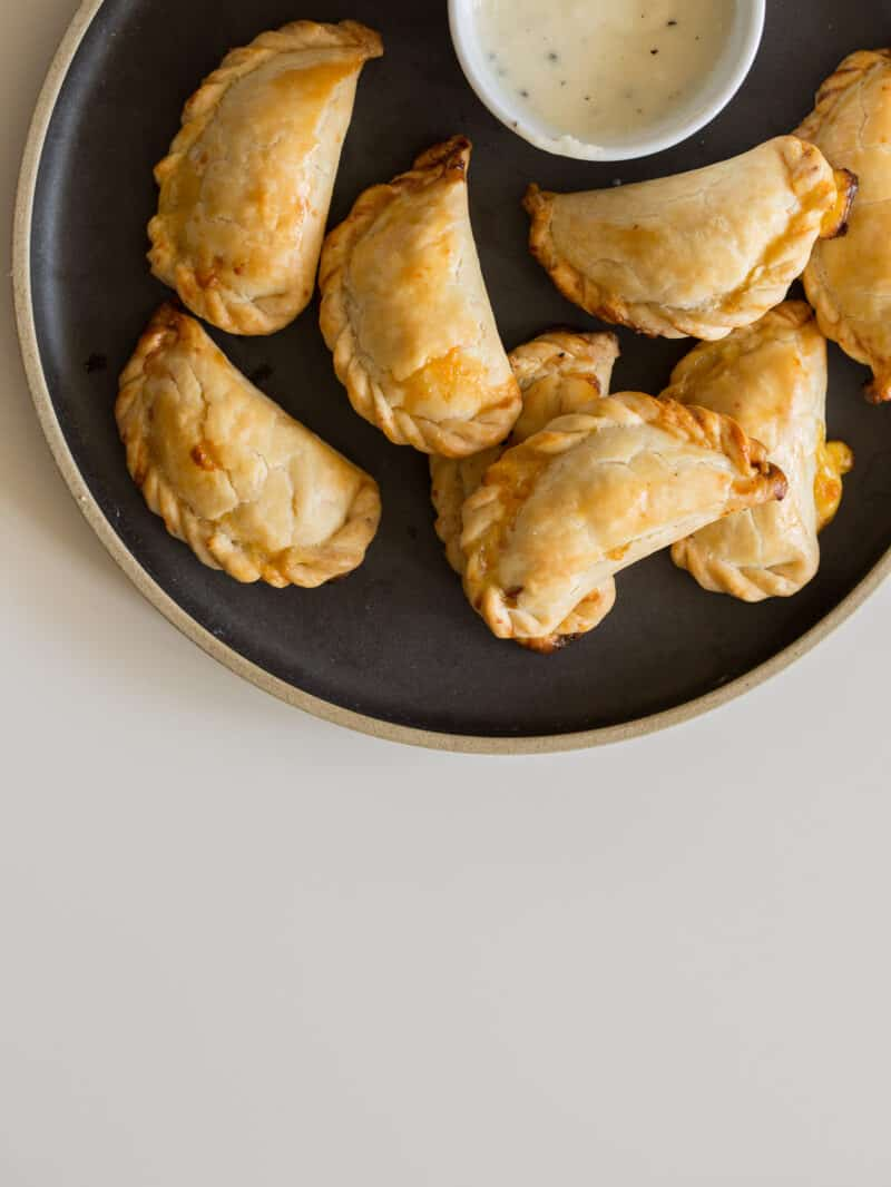A recipe for mini quiche hand pies.