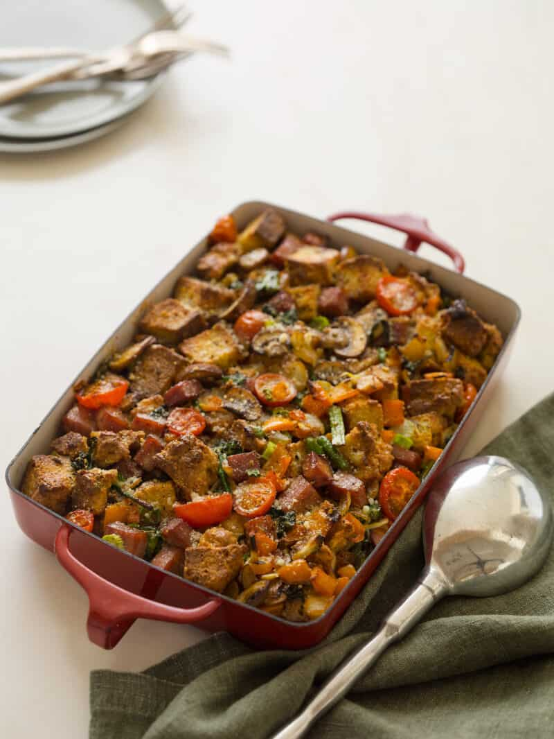 Savory Bread Pudding recipe.