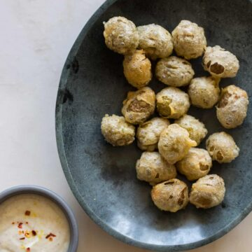 A recipe for Beer Battered Fried Olives.