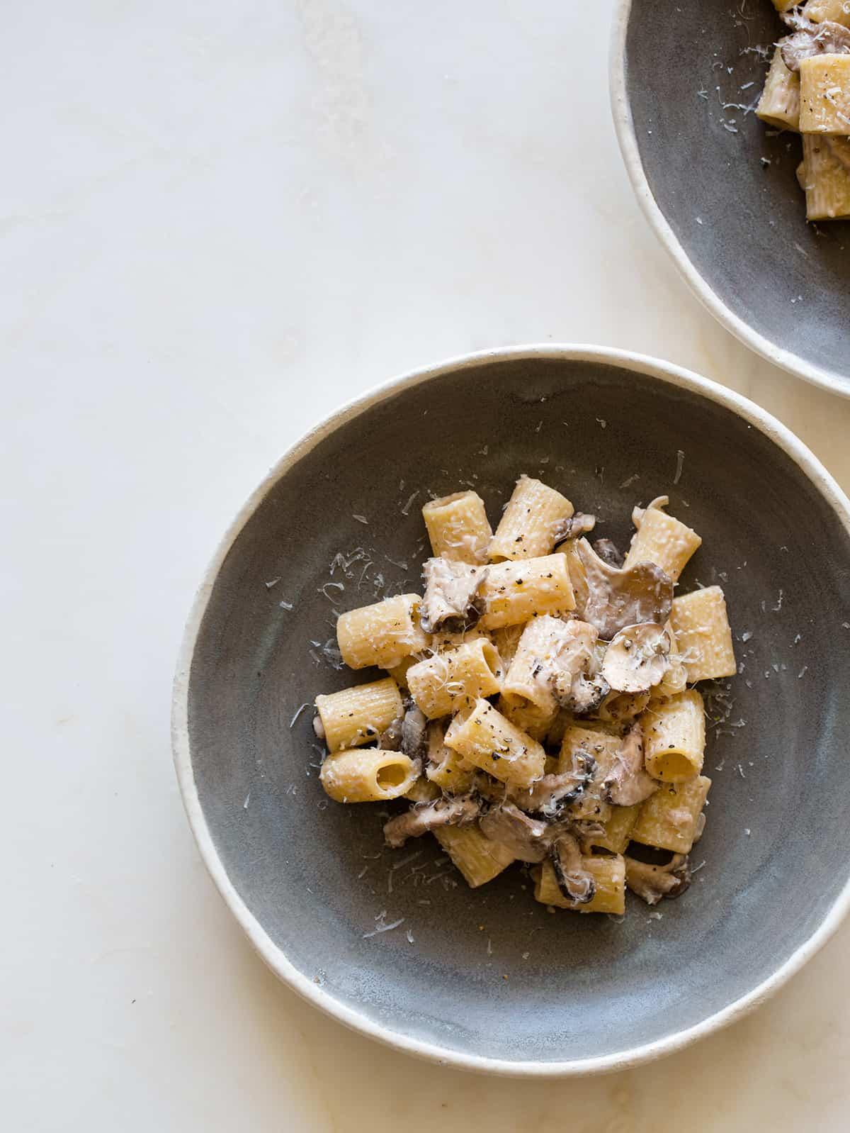 Mezzi Rigatoni with a Wild Mushroom Cream Sauce recipe