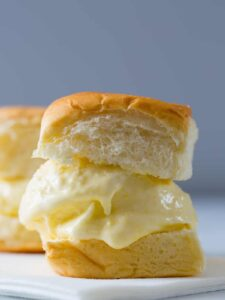 A close up of a sweet corn ice cream sandwich.