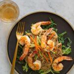 Almond Butter Soba Noodles with Garlic Shrimp