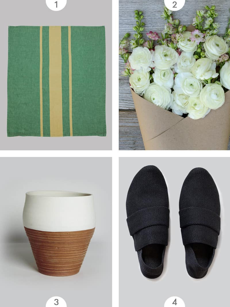 Four photo grid of Mother's Day gift ideas.